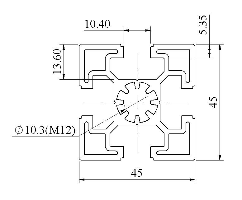 Nhôm định hình 45x45 ATV10-4545-01