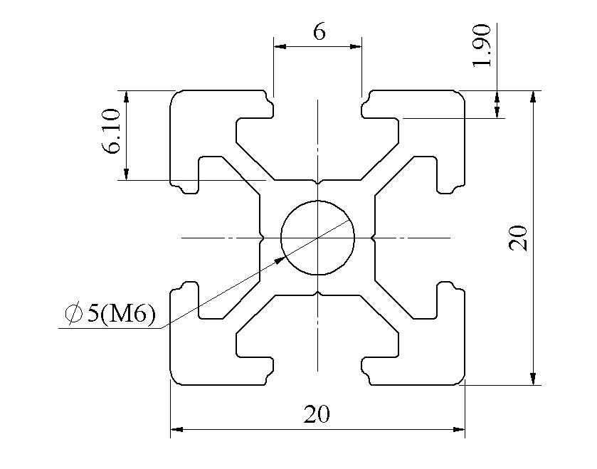 Bản vẽ khung nhôm định hình 20x20