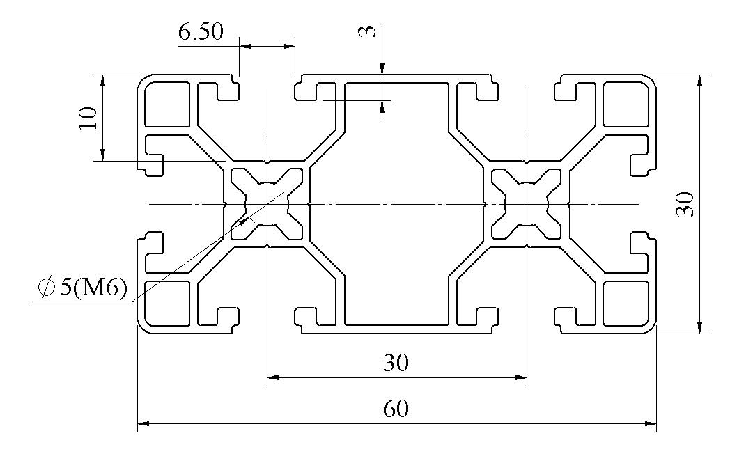 bản vẽ Nhôm định hình 30x60 ATV6-3060-03