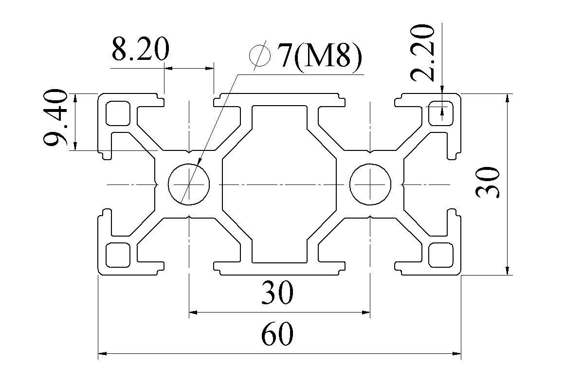 Bản vẽ nhôm 3060 ATV8-3060-01