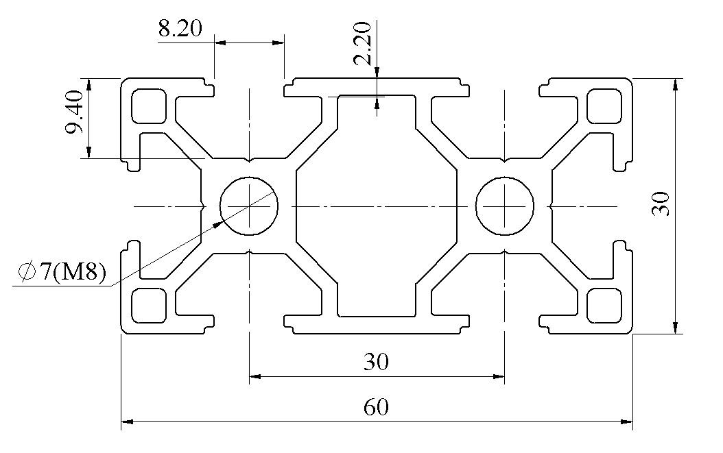 Bản vẽ nhôm định hình 30x60 ATV8-3060-01