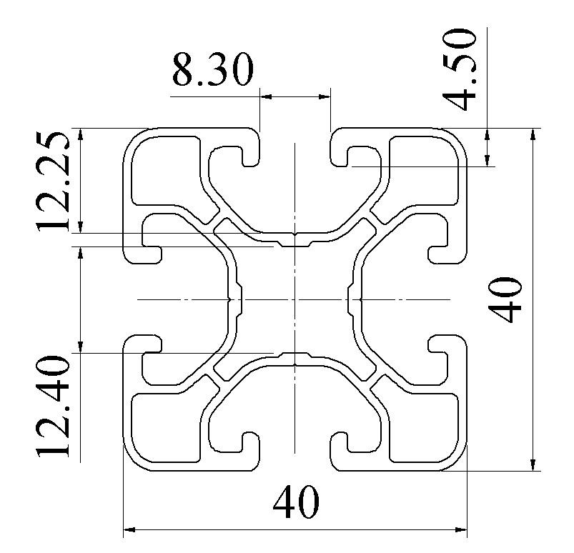 Nhôm định hình 40X40 ATV4-4040-06