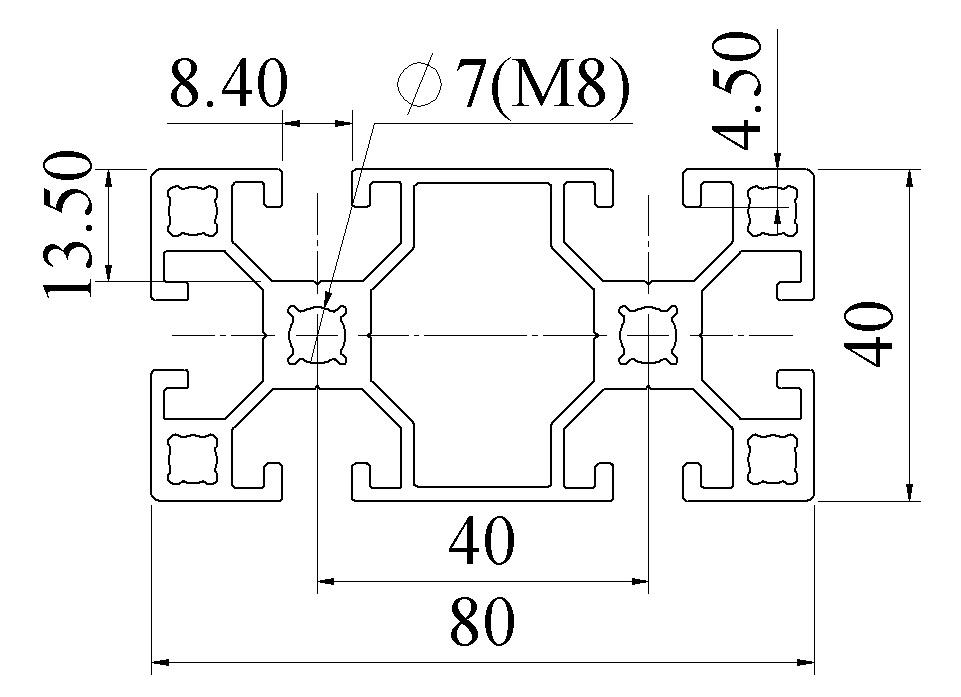 Nhôm định hình 40X80 ATV8-4080-02