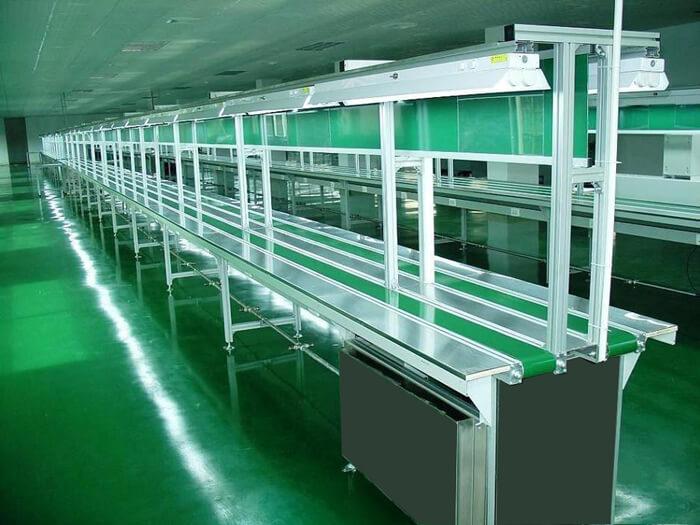 Các loại nhôm định hình sử dụng lắp ghép băng tải