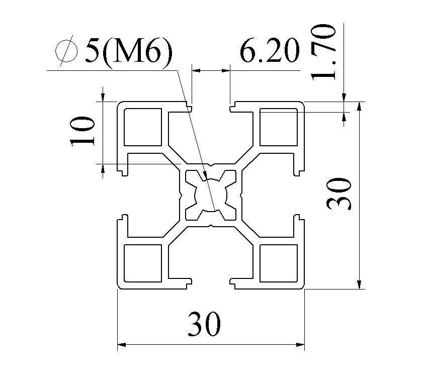 Nhôm định hình 30x30